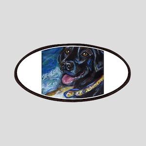Happy Black Labrador Patches