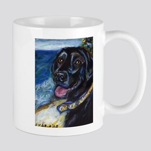 Happy Black Labrador Mugs