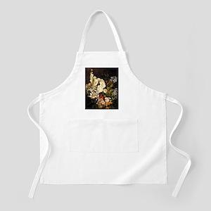 Boudin - Spray of Flowers-Hollyhocks Apron
