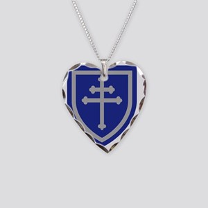 79th Infantry Division Necklace Heart Charm