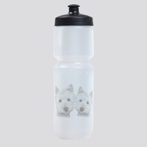 Two Cute West Highland White Dogs Sports Bottle
