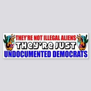 """Undocumented Democrats"" Sticker"