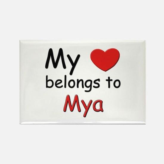 My heart belongs to mya Rectangle Magnet