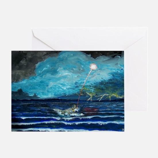 North Sea Ditching Greeting Card