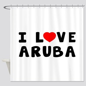I Love Aruba Shower Curtain