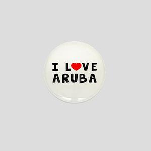 I Love Aruba Mini Button