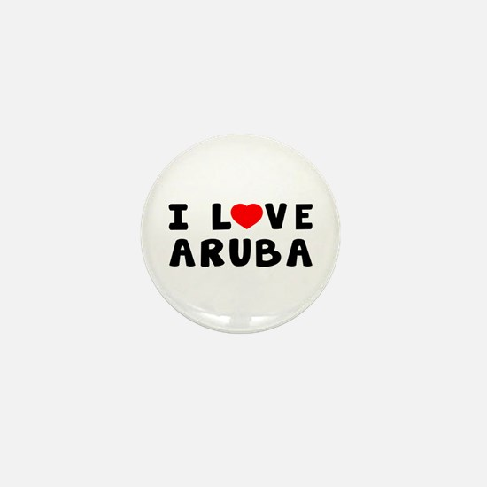 I Love Aruba Mini Button