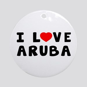 I Love Aruba Ornament (Round)