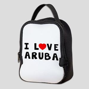 I Love Aruba Neoprene Lunch Bag