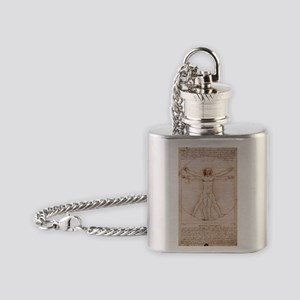 Vitruvian Man Flask Necklace