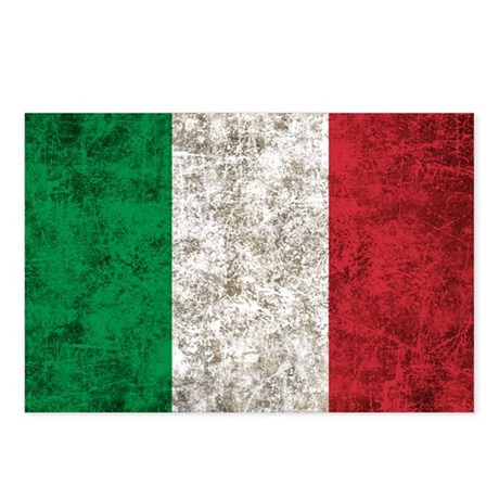 Italian Flag Postcards (Package of 8)