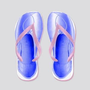 Periwinkle Pointe Shoes Flip Flops