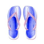 Periwinkle Pointe Shoes Flip Flops