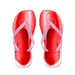 Red Pointe Shoes Flip Flops
