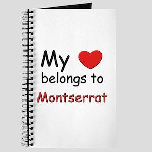 My heart belongs to montserrat Journal