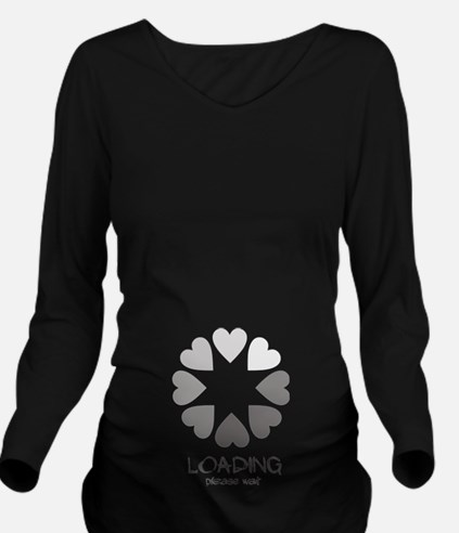 New baby loading hearts Long Sleeve Maternity T-Sh