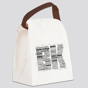 Brooklyn BK Text Art Canvas Lunch Bag