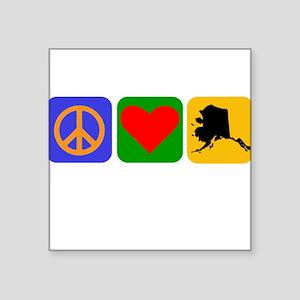 Peace Love Alaska Sticker