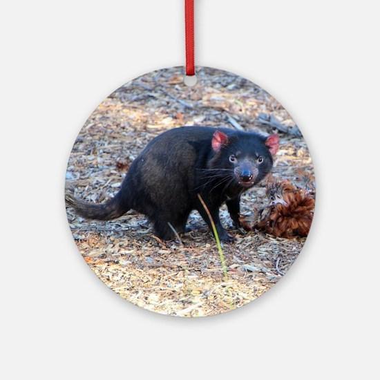 Hungry Tasmanian Devil Round Ornament