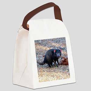Hungry Tasmanian Devil Canvas Lunch Bag