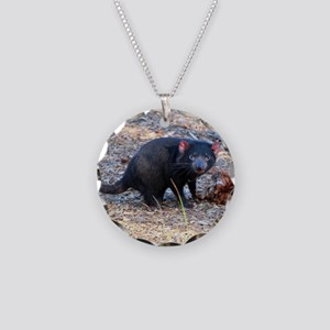 Hungry Tasmanian Devil Necklace Circle Charm