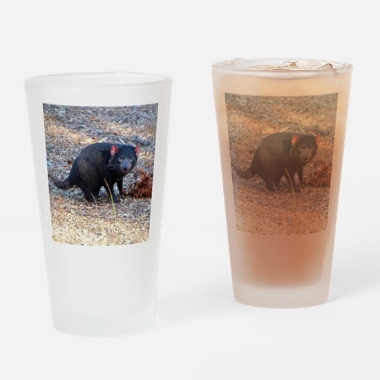 Hungry Tasmanian Devil Drinking Glass