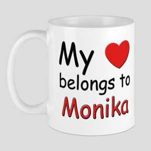 My heart belongs to monika Mug