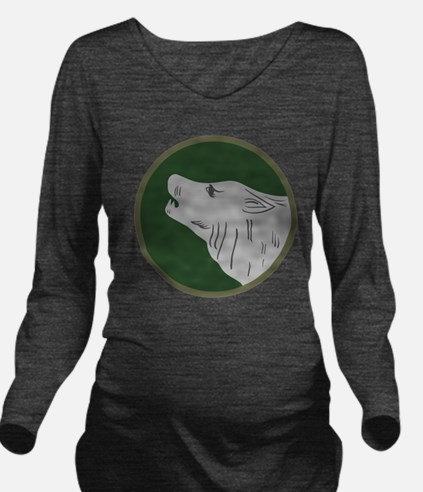 104th Infantry Divis Long Sleeve Maternity T-Shirt