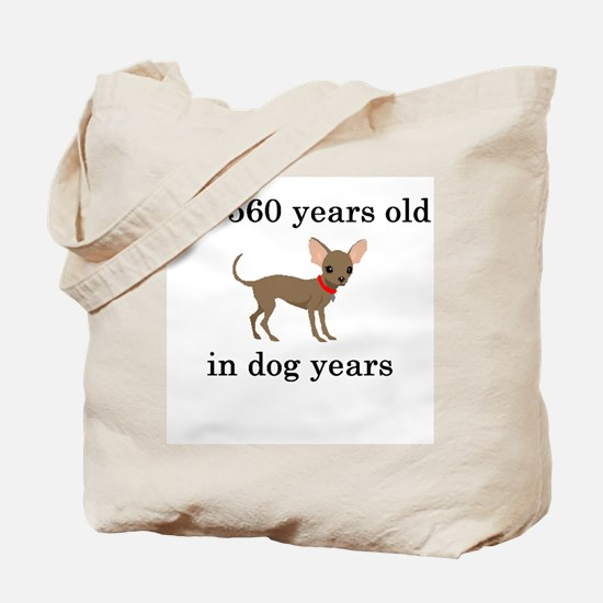 80 birthday dog years chihuahua Tote Bag