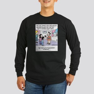 Hanukkah Cell Phone Miracle Long Sleeve Dark T-Shi