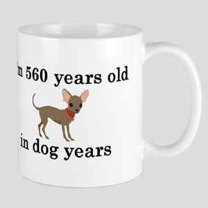 80 birthday dog years chihuahua 2 Mugs