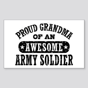 Proud Army Grandma Sticker (Rectangle)