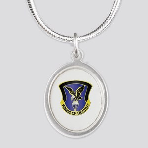 DUI - 101st Aviation Brigade Silver Oval Necklace