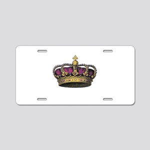 Vintage Pink Crown Aluminum License Plate