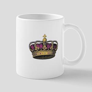 Vintage Pink Crown Mugs