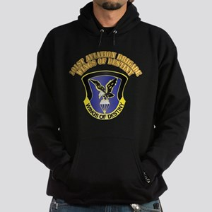 DUI - 101st Aviation Brigade with Text Hoodie (dar