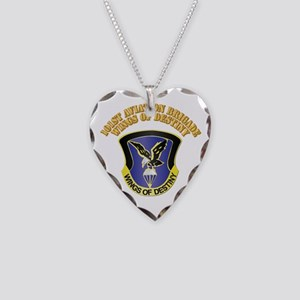 DUI - 101st Aviation Brigade with Text Necklace He