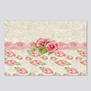 Vintage Pink and  Cream R Postcards (Package of 8)