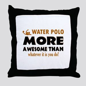 water loo is awesome designs Throw Pillow