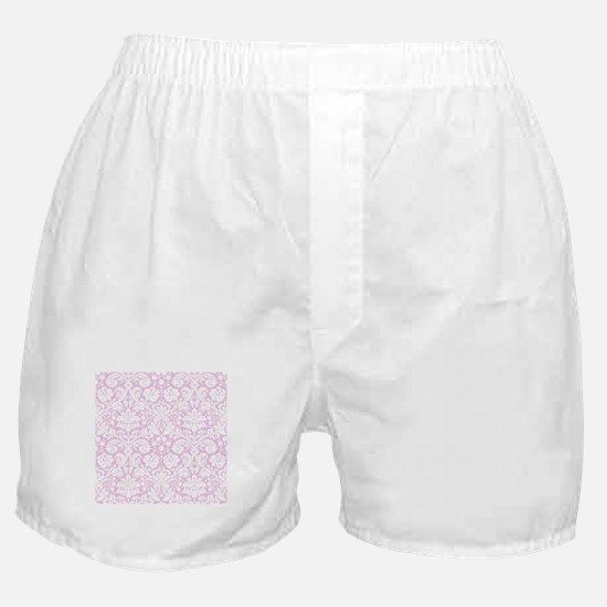 Pale Pink Damask Boxer Shorts