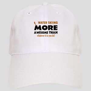 water skiing is awesome designs Cap