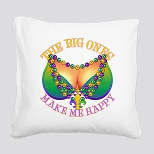 MGbeadsNboobsBigHtr Square Canvas Pillow