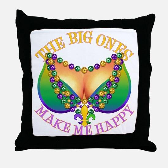 MGbeadsNboobsBigHtr Throw Pillow