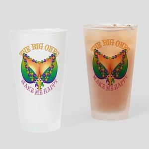 MGbeadsNboobsBigHtr Drinking Glass