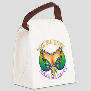MGbeadsNboobsBigHtr Canvas Lunch Bag