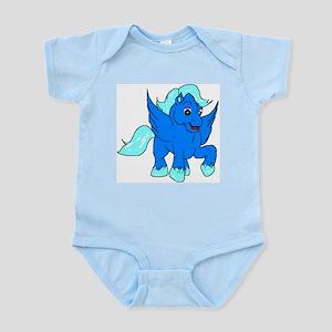Baby Blue Pegasus Infant Creeper Body Suit