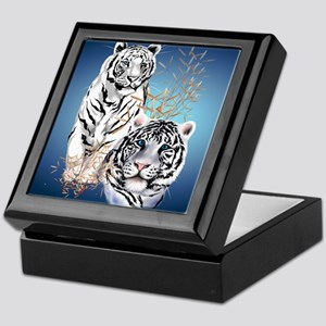 Two White Tigers Calender Keepsake Box