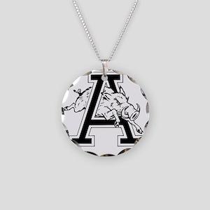 Razorback A Necklace Circle Charm