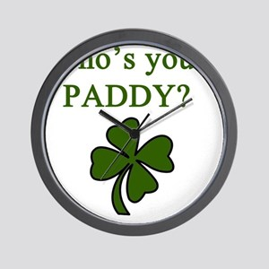 Whos your Paddy Wall Clock