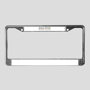 Jesus Christ License Plate Frame